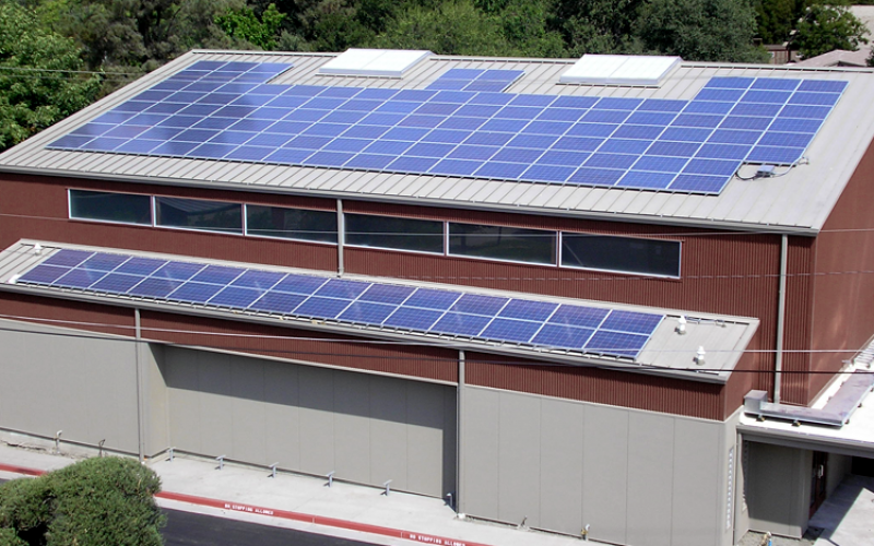 commercial solar gallery, athenian school solar power system