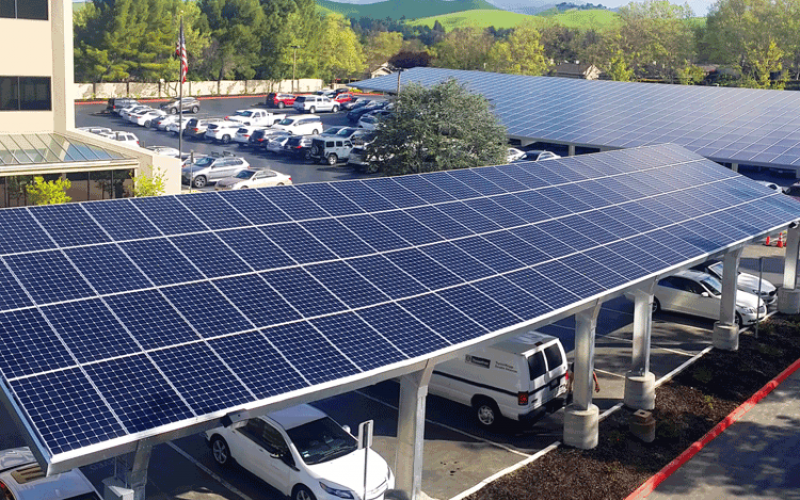 commercial solar power system carport