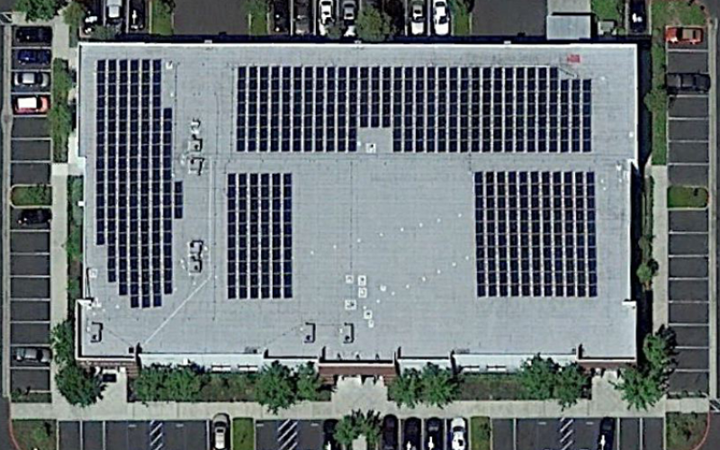 commercial solar gallery top view