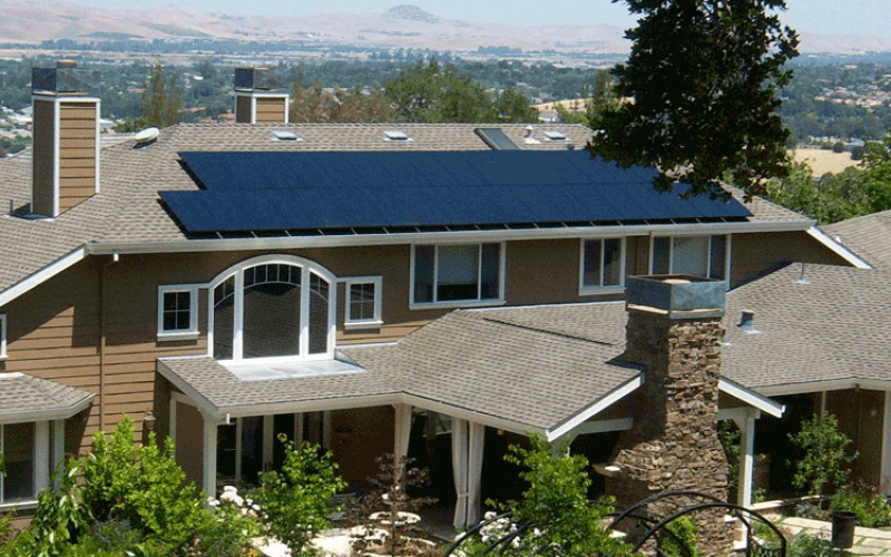 martoglio solar power system on home
