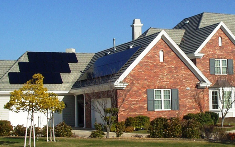 ruby hill solar power system on home