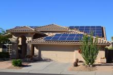 residential solar installation street view