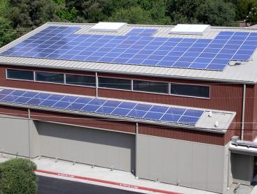 commercial solar gallery, athenian school solar power system