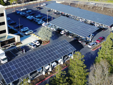 large commercial solar power installation