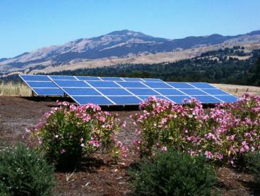 ground mounted solar system installation