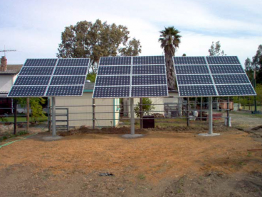 ground mounted solar system livermore pole mount